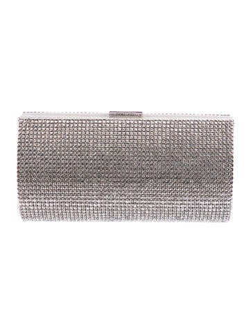 Swarovski Crystal Embellished Clutch None