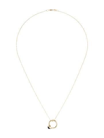 Garnet Ring Pendant Necklace