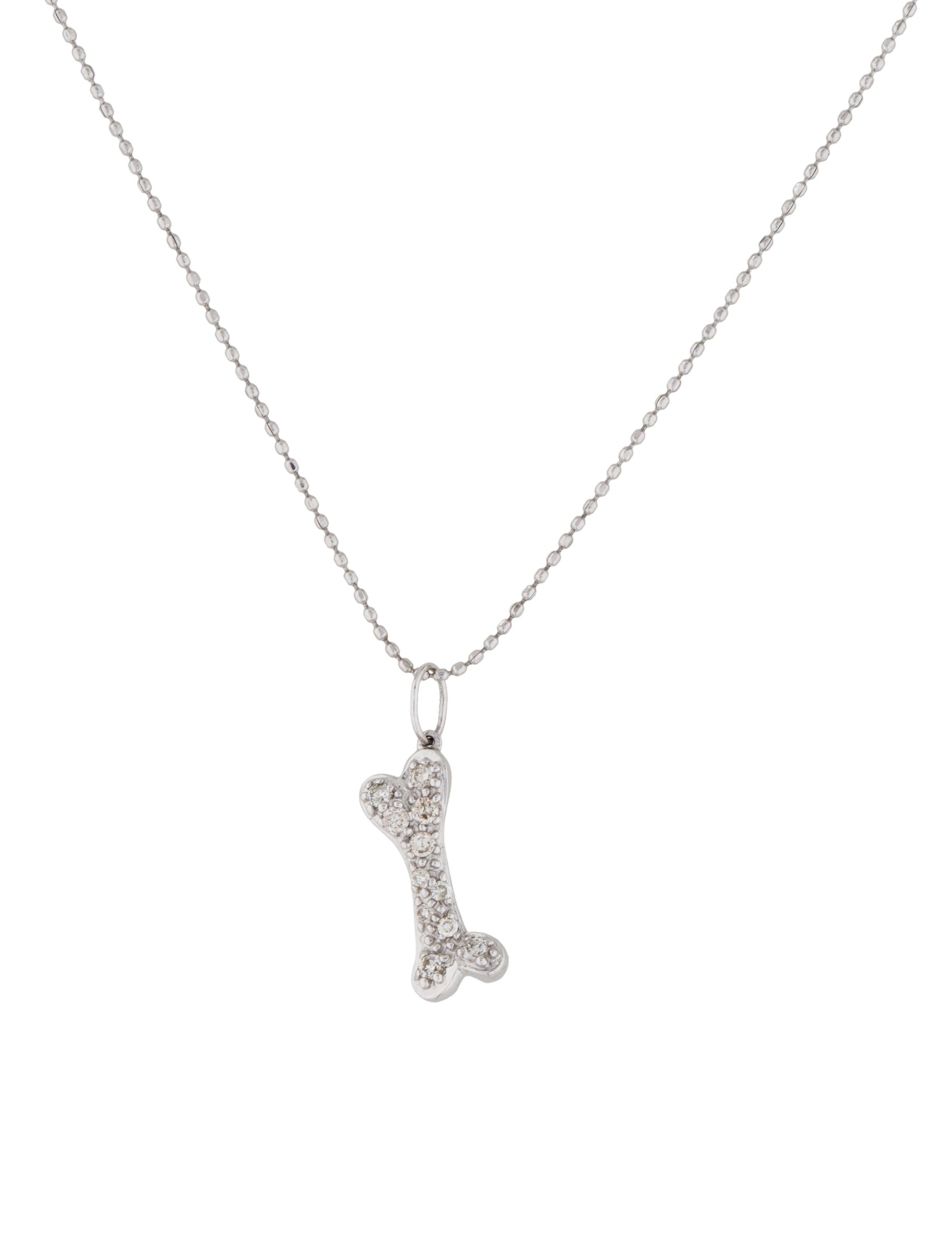 Sydney Evan Diamond Dogbone Pendant Necklace Necklaces
