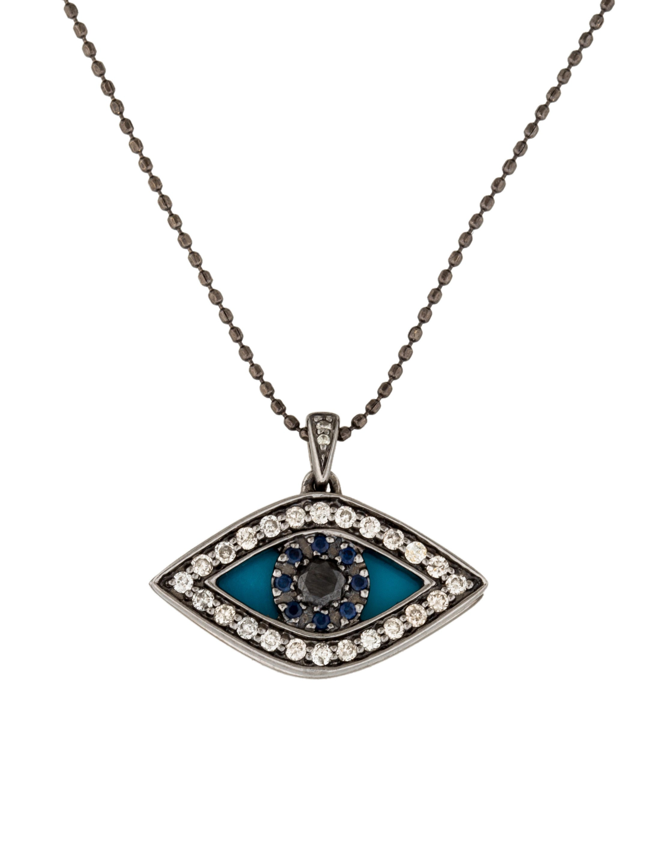 necklace collections diamond colored necklaces cz eye of azil and large products evil boutique