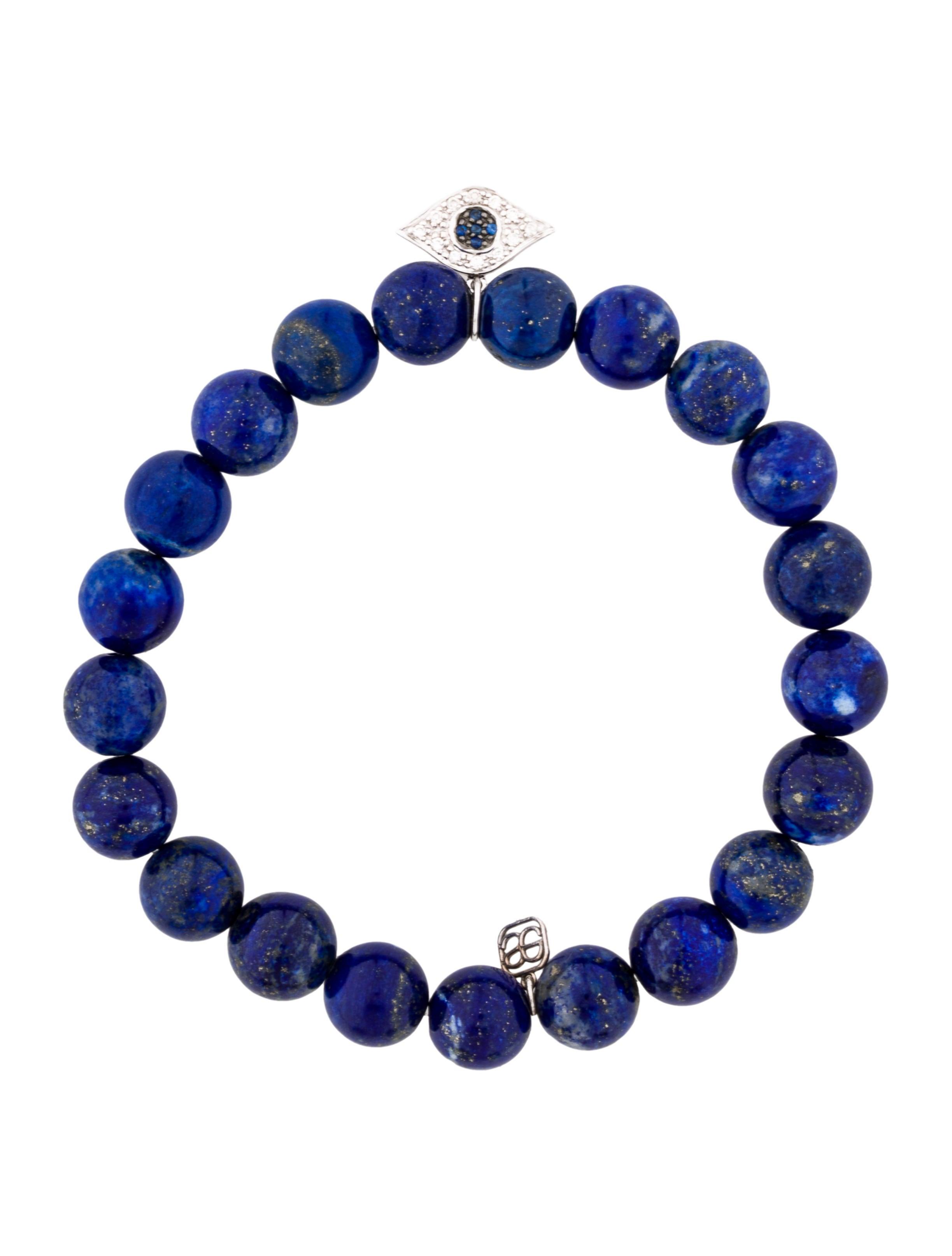 sydney evan diamond sapphire evil eye lapis lazuli bead bracelet bracelets sye20542. Black Bedroom Furniture Sets. Home Design Ideas