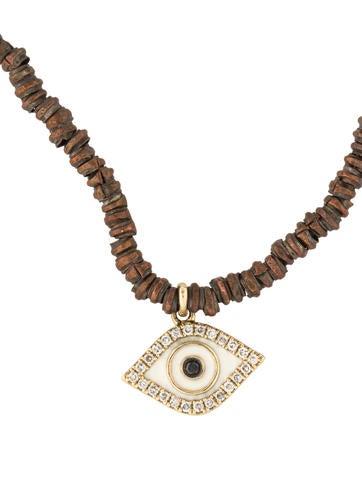 sydney evan 14k diamond evil eye copper bead pendant. Black Bedroom Furniture Sets. Home Design Ideas