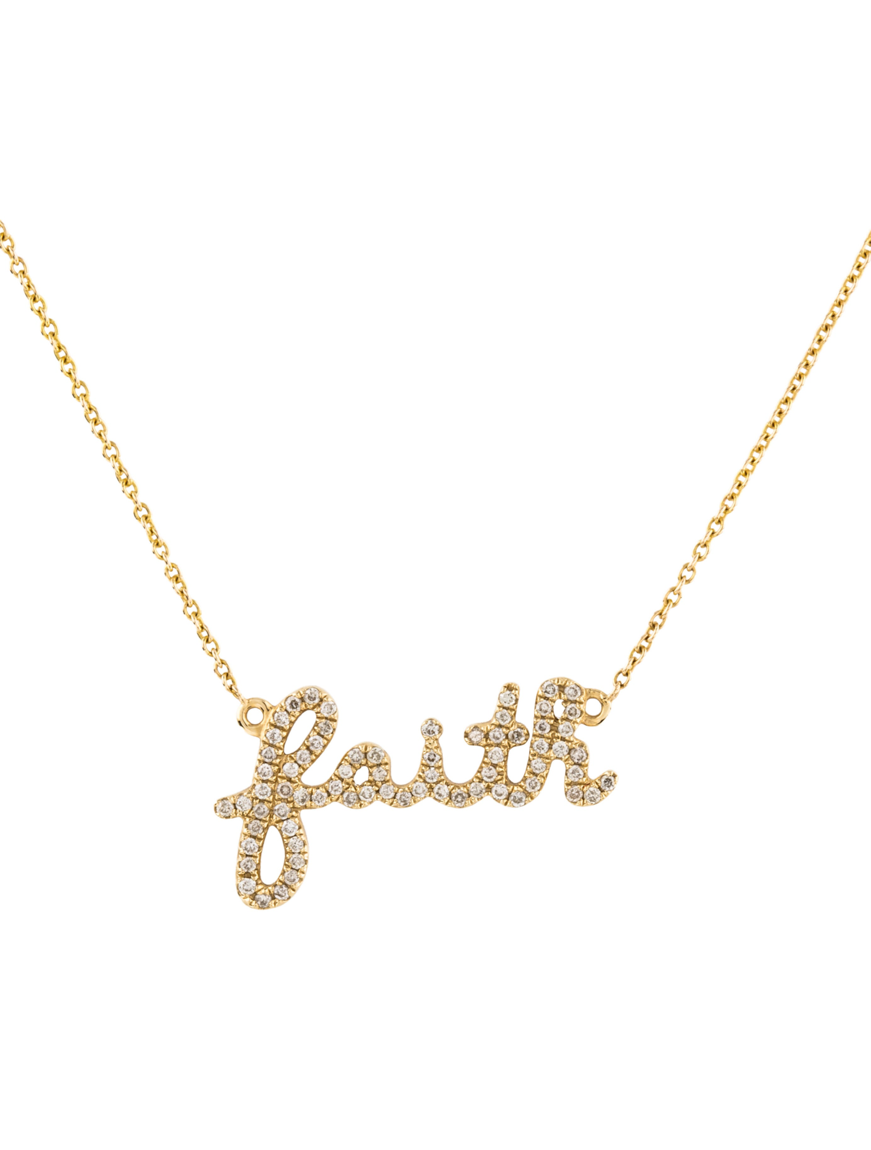 Sydney evan 14k diamond faith pendant necklace necklaces 14k diamond faith pendant necklace aloadofball Image collections