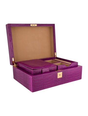 Smythson Embossed Jewelry Box Decor And Accessories Syn20988 The Realreal