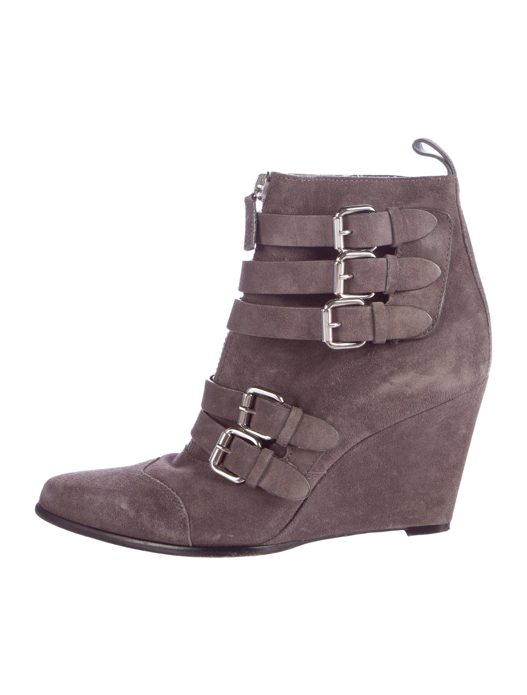 simmons suede wedge ankle boots shoes tab20956