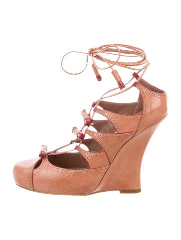 Tabitha Simmons Drusilla Lace-Up Wedges None