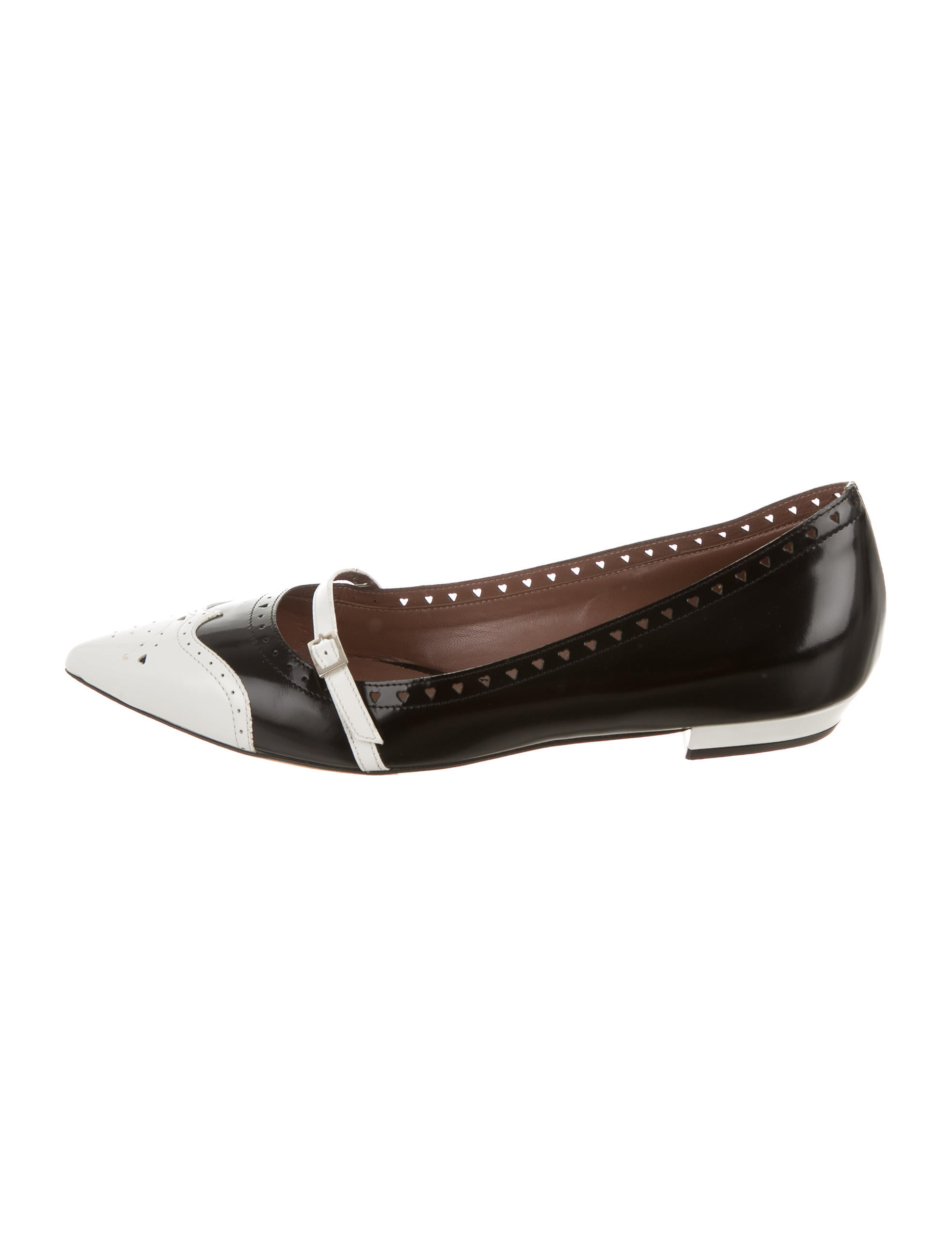 simmons leather pointed toe flats shoes