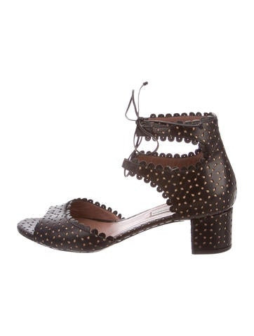 Tabitha Simmons Lasercut Ankle Strap Sandals None