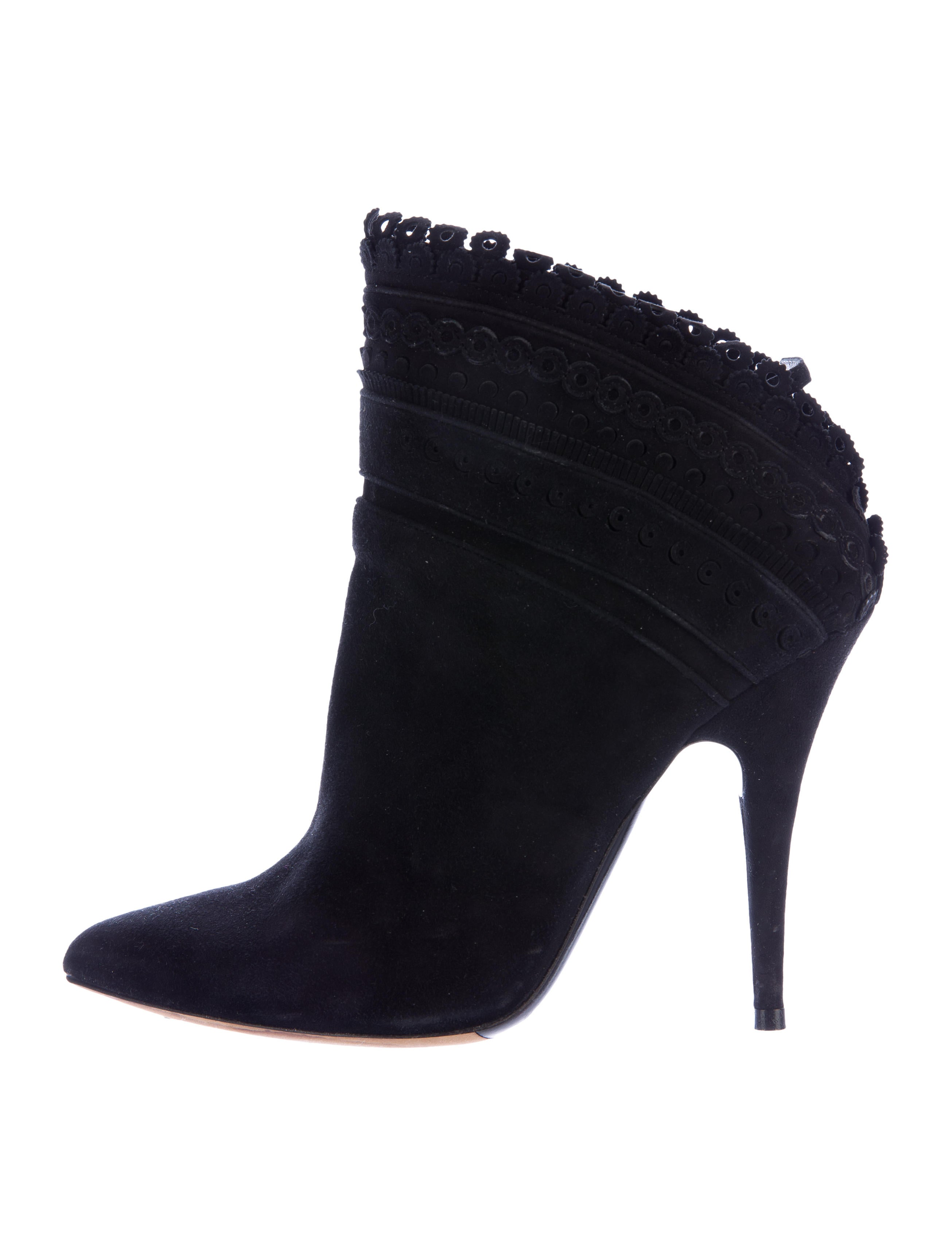 Tabitha Simmons Suede Pointed-Toe Booties prices online cheap sale exclusive YZk4V