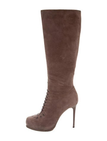 Tabitha Simmons Suede Knee-High Boots None