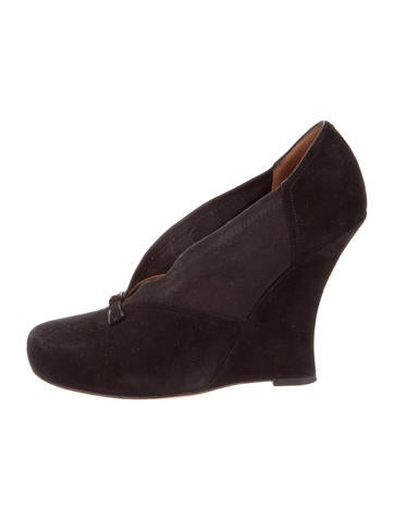 Tabitha Simmons Round-Toe Bow Wedges None