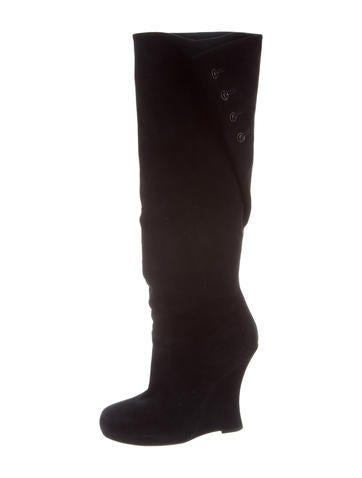 Tabitha Simmons Knee-High Wedge Boots None