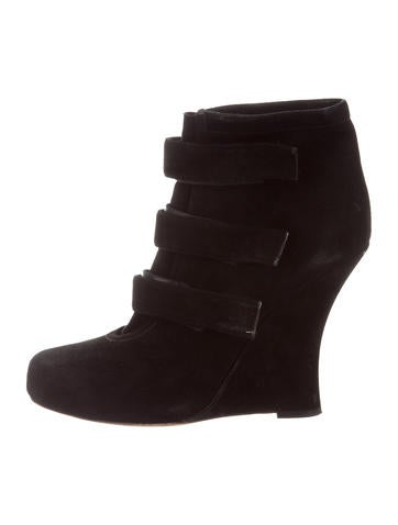 Tabitha Simmons Suede Wedge Ankle Boots None