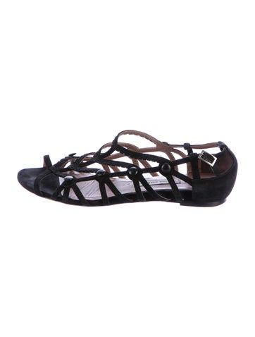 Tabitha Simmons Suede Cage Sandals None