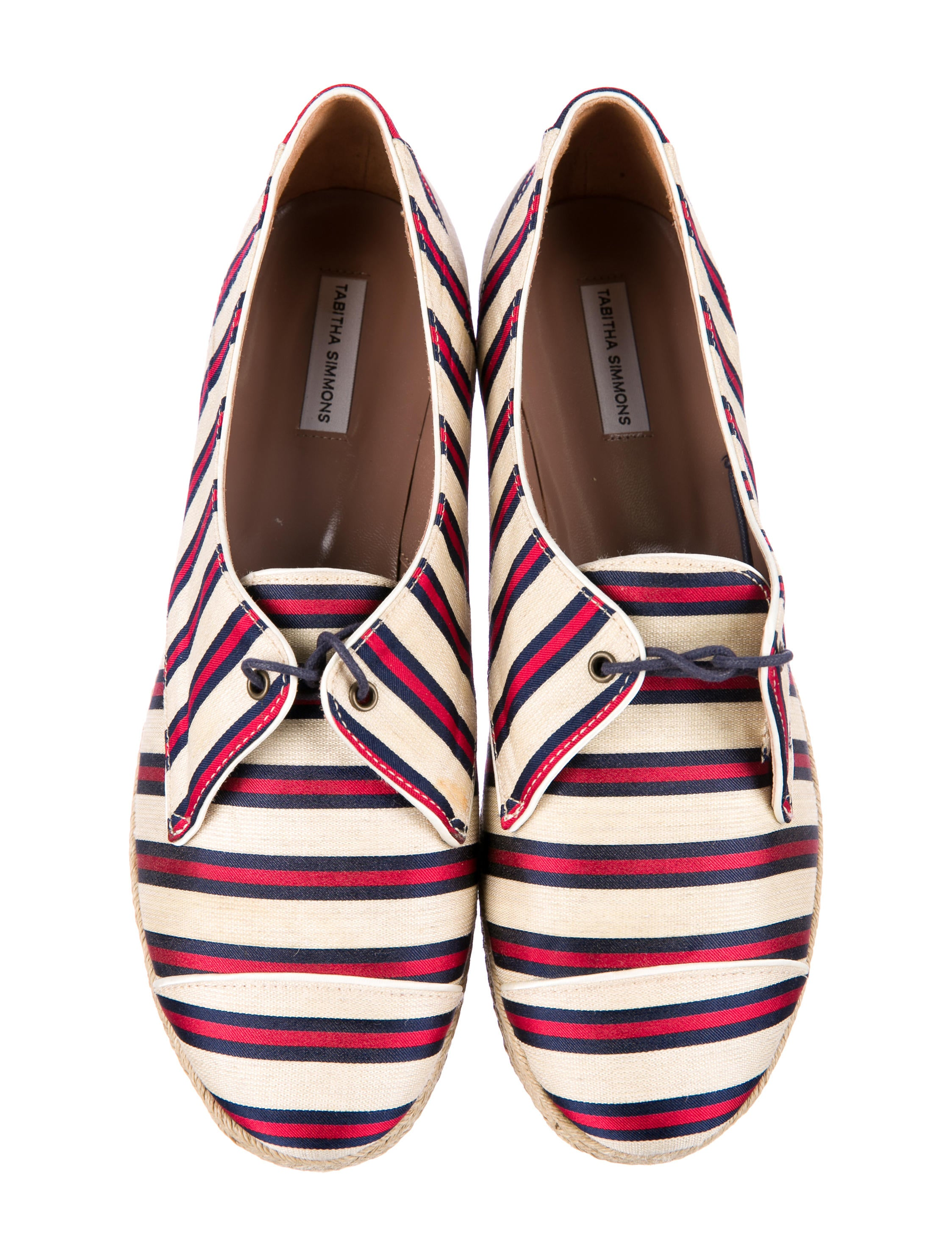 sale newest Tabitha Simmons Striped Flatform Sneakers outlet clearance tYE1vJr