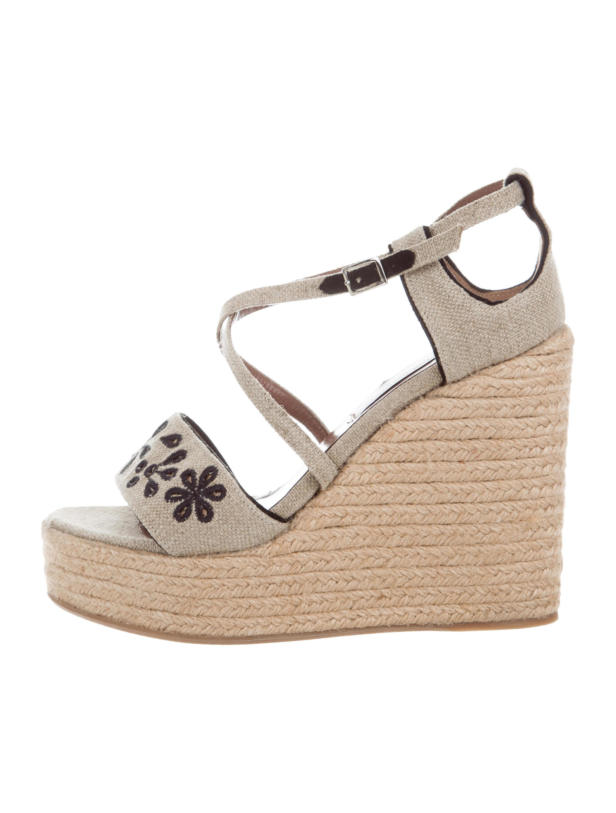 Tabitha Simmons Canvas Espadrille Wedges