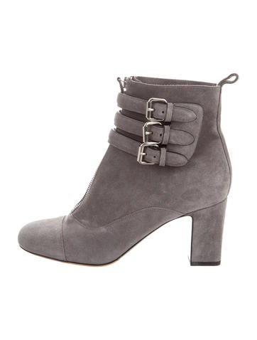 Tabitha Simmons Suede Buckle Ankle Boots None