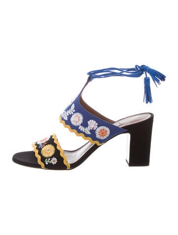Tabitha Simmons Thais Spain Embroidered Sandals w/ Tags buy cheap choice prices cheap sale Inexpensive discount collections G6YDQXacAj