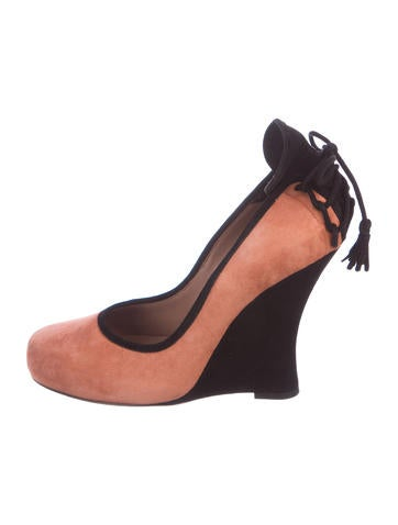 Tabitha Simmons Wedge Round-Toe Wedges None