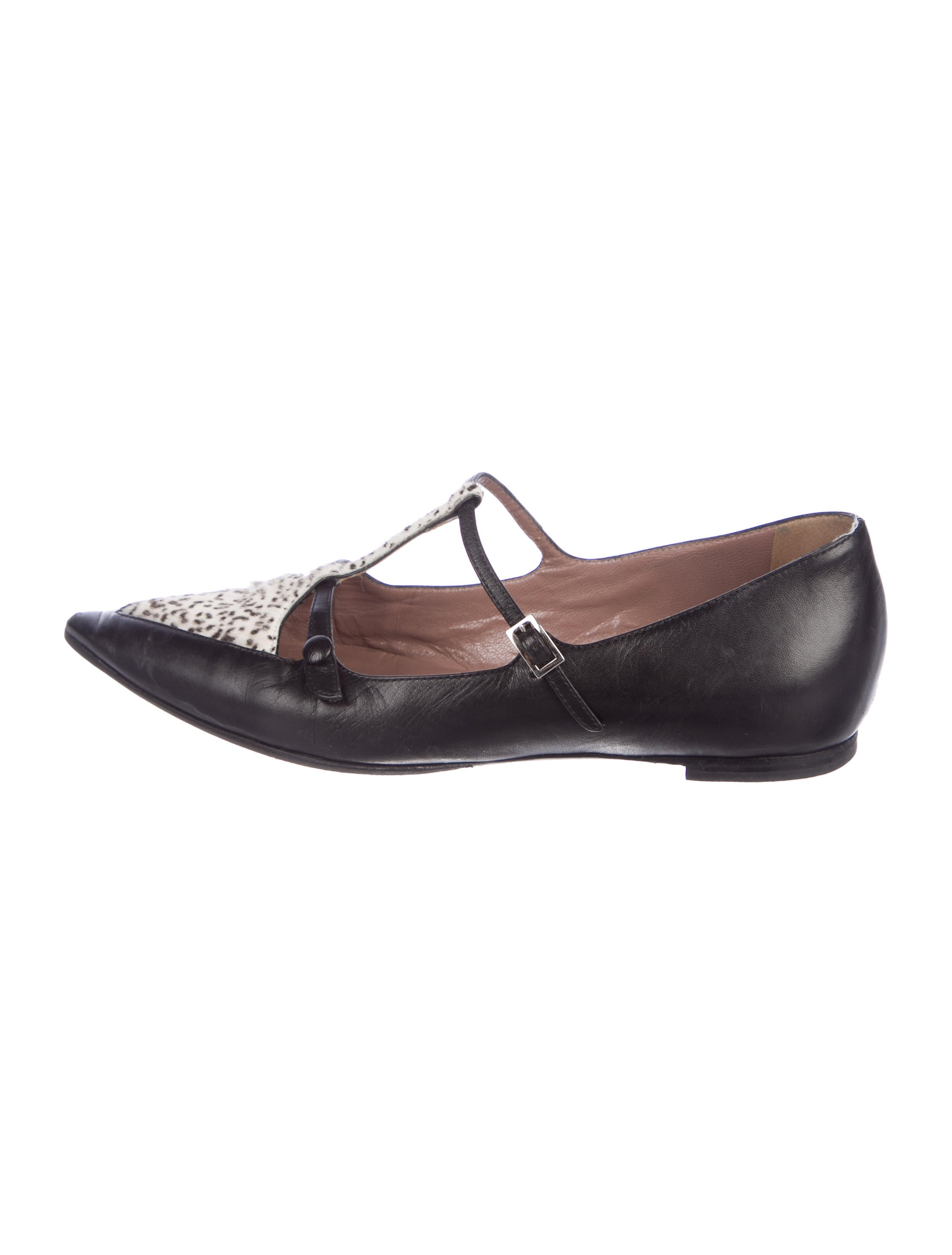 outlet great deals Tabitha Simmons Calf Hair T-Strap Flats free shipping outlet locations buy cheap many kinds of 4RskN7i