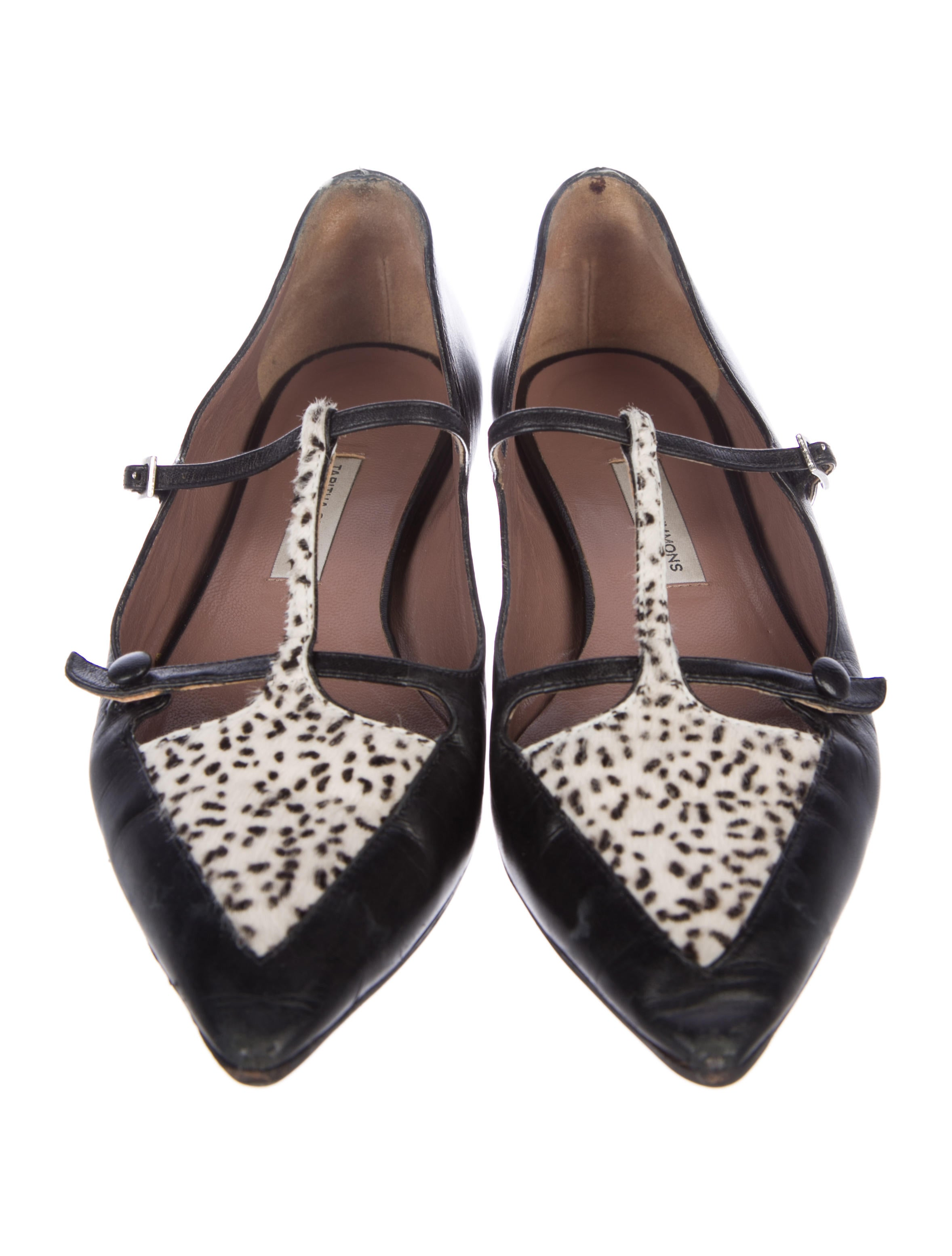 Tabitha Simmons Calf Hair T-Strap Flats discount low shipping fee discount for sale free shipping how much sale discount outlet latest vdePf4yC2W