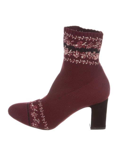 Tabitha Simmons Embroidered Ankle Boots multicolor