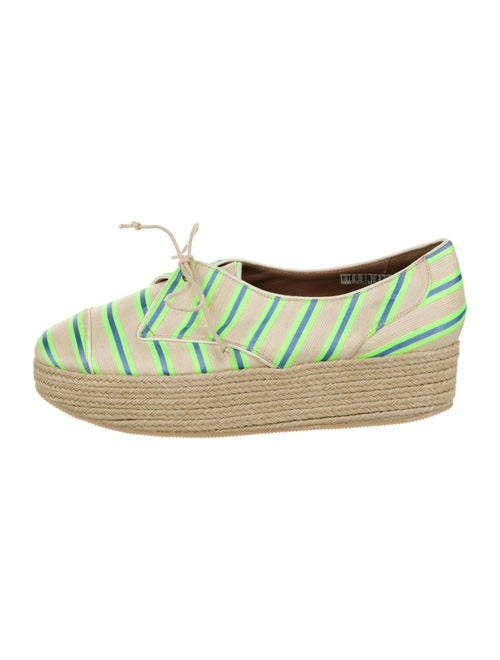 Tabitha Simmons Canvas Lace-Up Espadrilles multico
