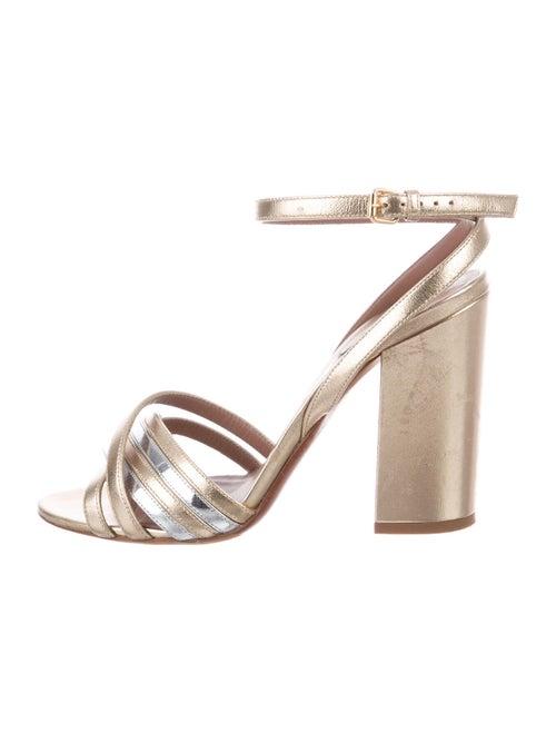 Tabitha Simmons Leather Sandals Metallic
