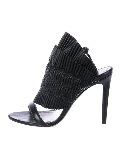 Tabitha Simmons Leather Sandals Black