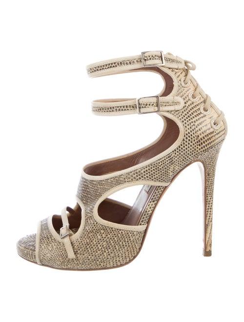 Tabitha Simmons Lizard Sandals