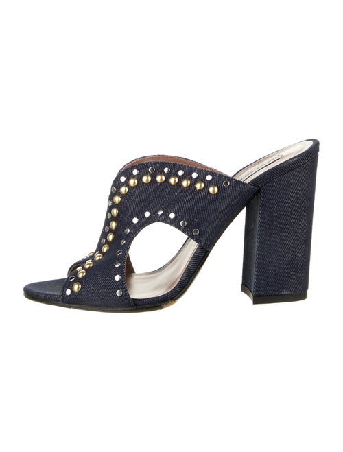 Tabitha Simmons Studded Accents Slides Blue