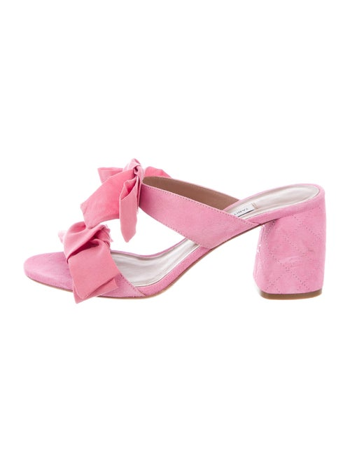 Tabitha Simmons Suede Slides Pink