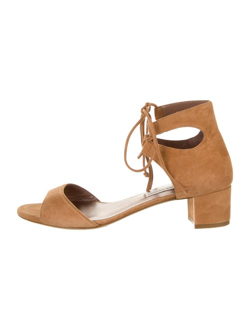 Tabitha Simmons Suede Sandals Brown