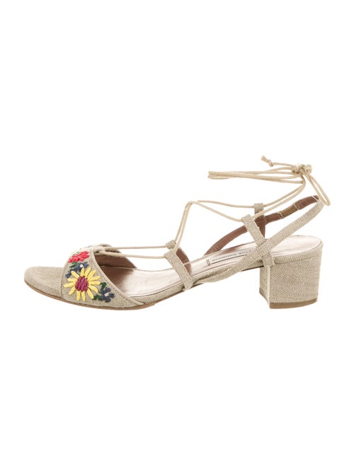 Tabitha Simmons Floral Print Embroidered Accent Gl