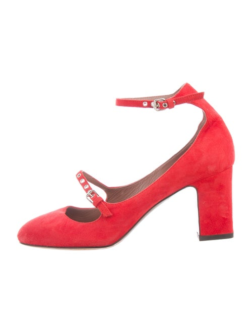 Tabitha Simmons Suede Pumps Red