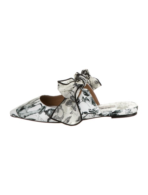 Tabitha Simmons Leather Printed Mules White