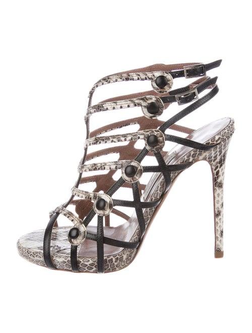 Tabitha Simmons Snakeskin Sandals