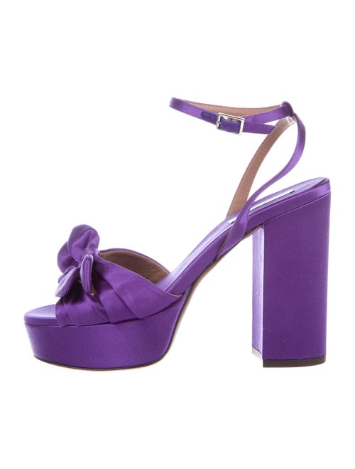 Tabitha Simmons Bow Accents Sandals Purple