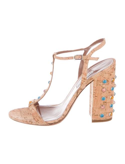 Tabitha Simmons Crystal Embellishments T-Strap San