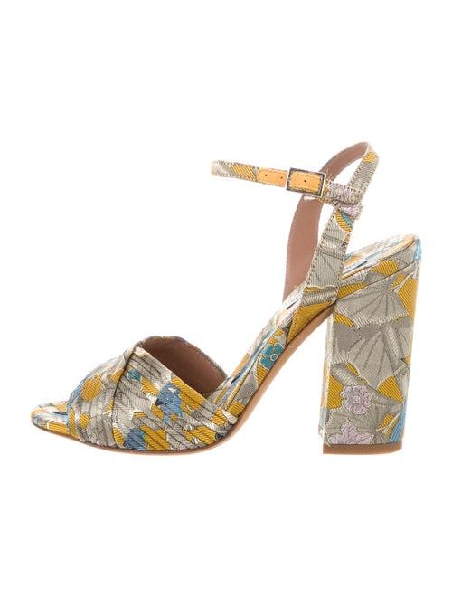 Tabitha Simmons Floral Print Sandals