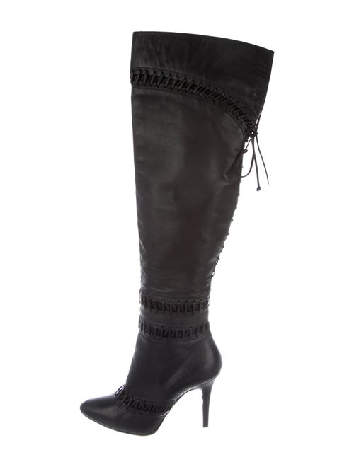 Tabitha Simmons Leather Boots Black