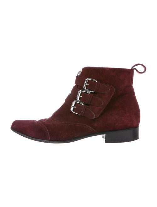 Tabitha Simmons Suede Boots Red