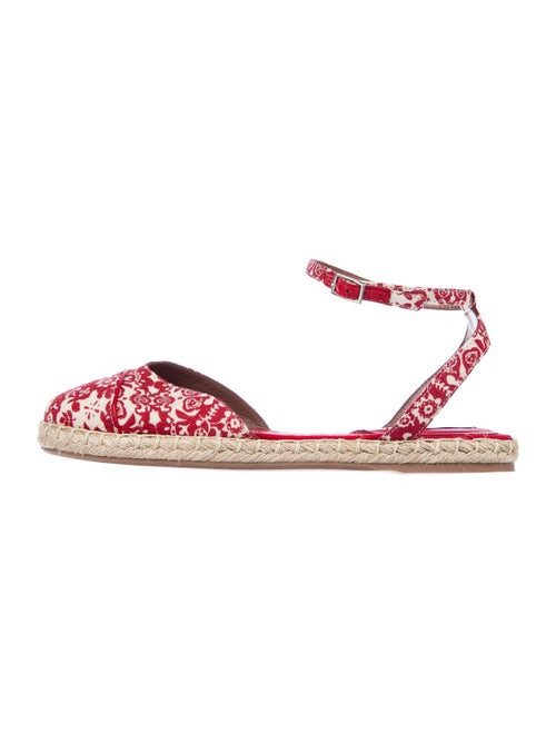 Tabitha Simmons Printed Espadrilles Red