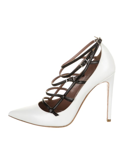 Tabitha Simmons Leather Pumps White