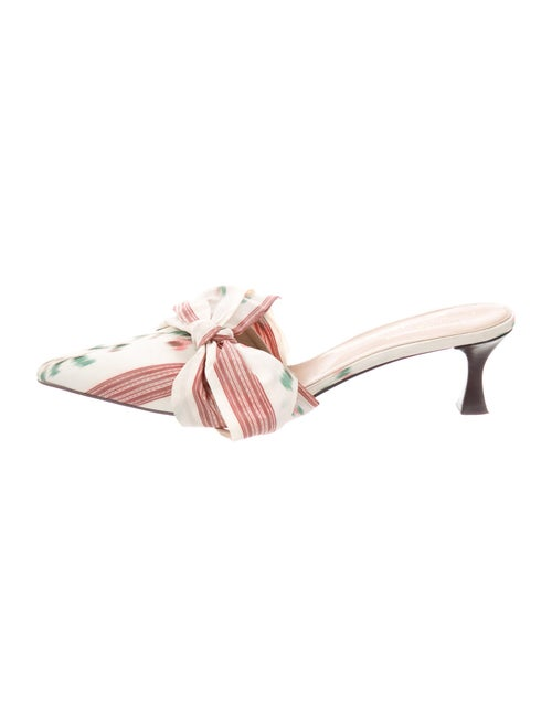 Tabitha Simmons Striped Bow Accents Mules