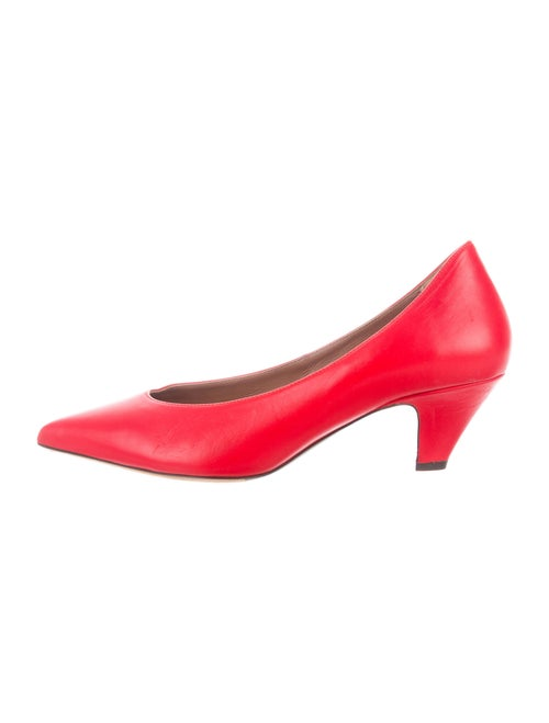 Tabitha Simmons Leather Pumps Red