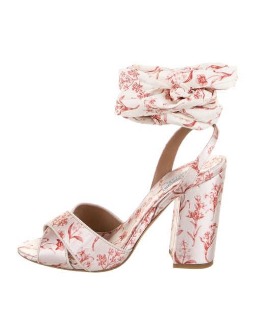 Tabitha Simmons Printed Sandals Pink