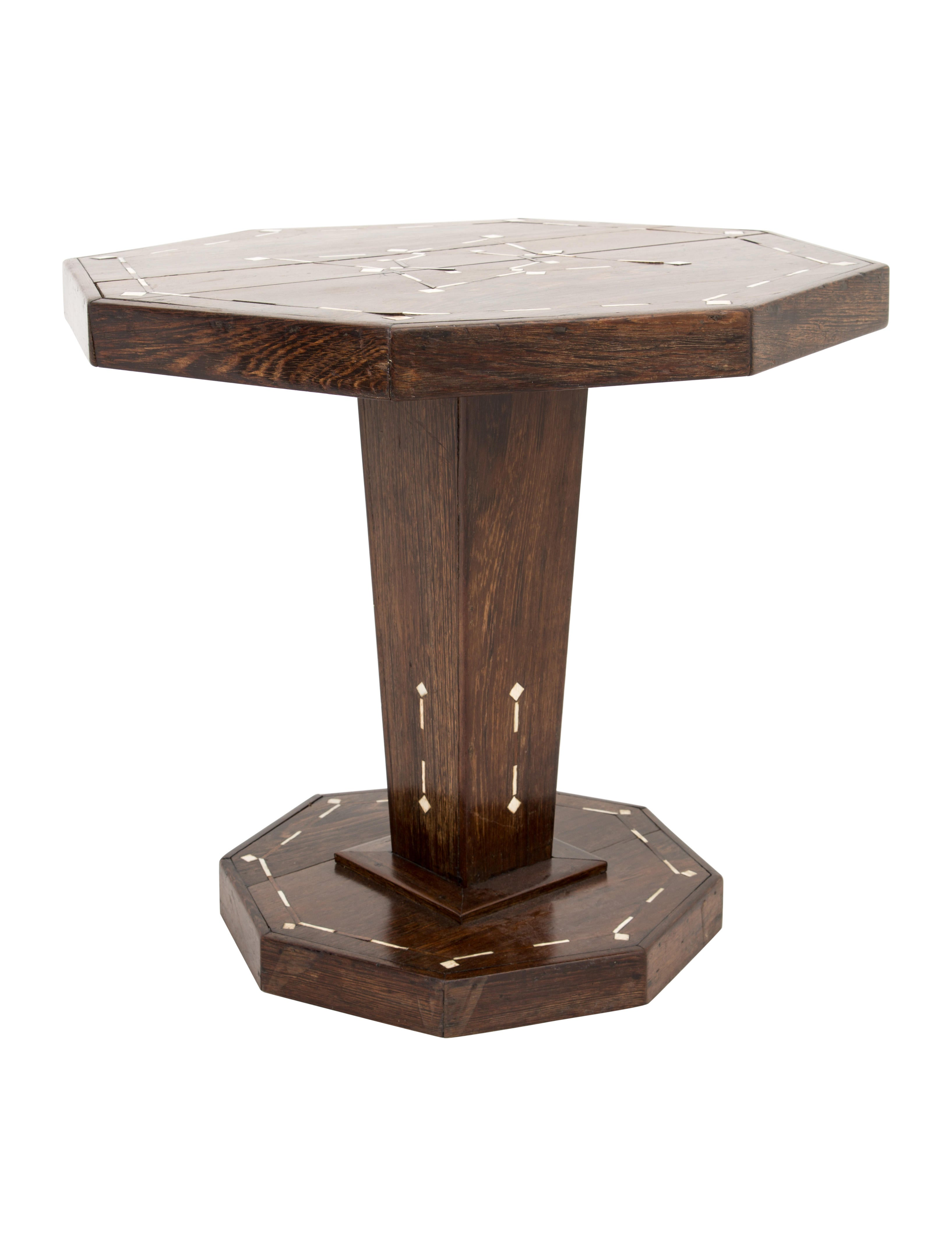 Inlaid Pedestal Table Furniture Table20067 The Realreal