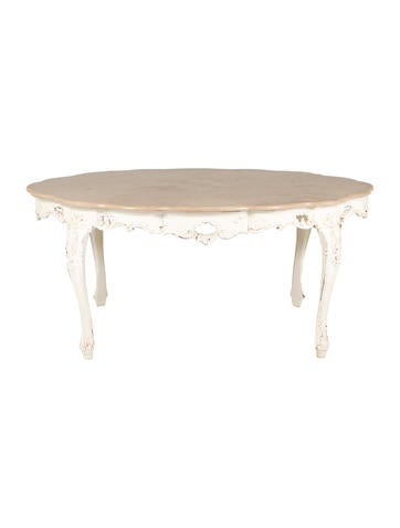 Antique Marble Dining Table