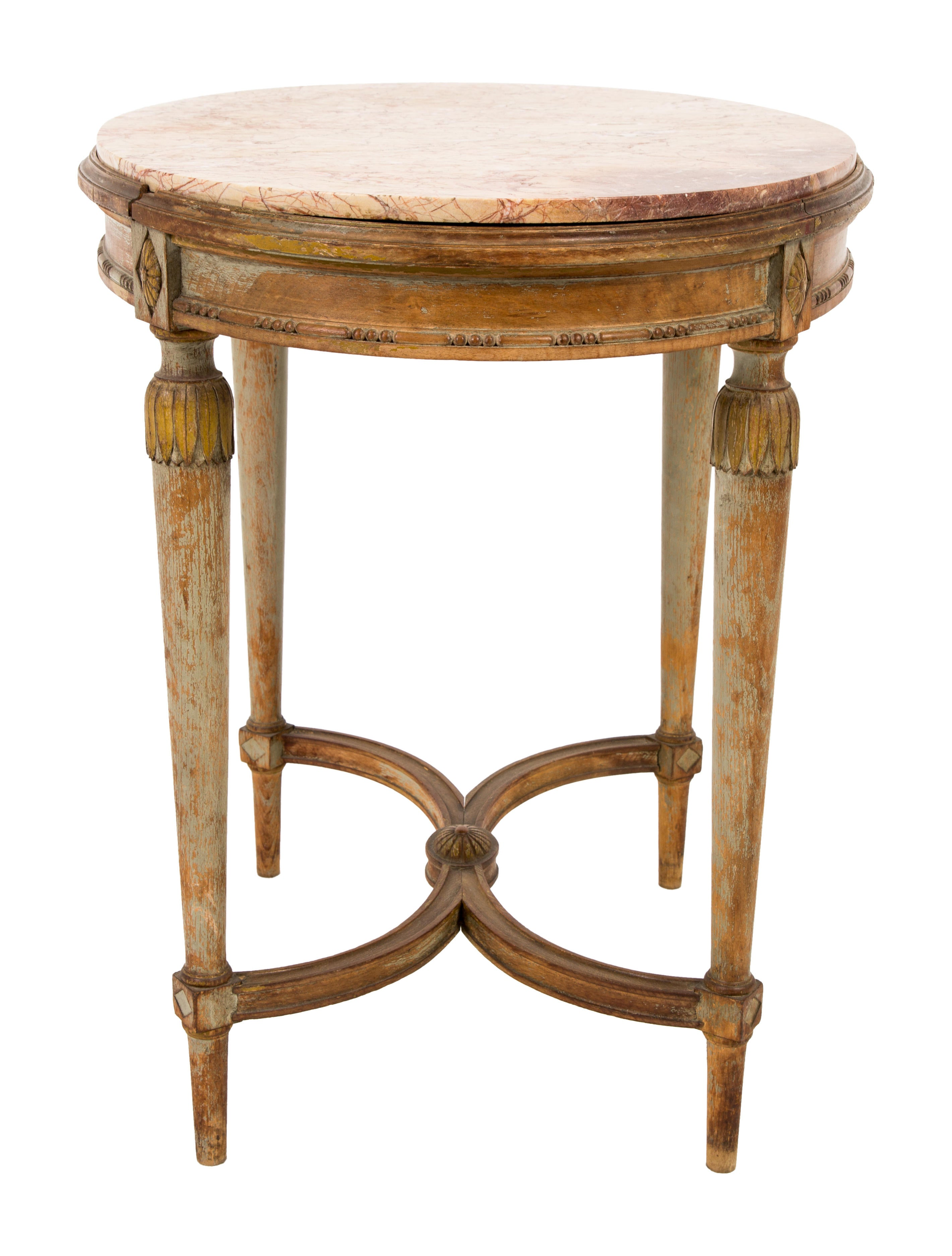 Antique oval side table furniture the